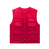 sleeveless work vest with many pockets/industrial outdoor working vest uniform manufacture mens fishingjacket