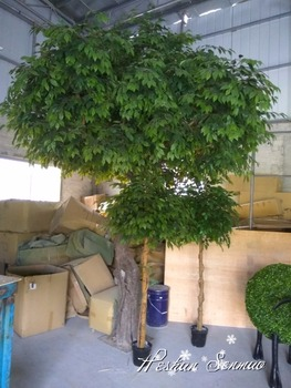 natural look artificial greenery tree banyan tree for indoor and