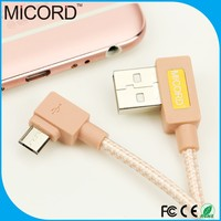 Wholesale factory supply 1m right angle micro USB B male to USB 2.0 A Female Cable