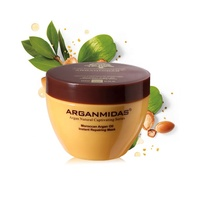 Professional hair care products argan hair mask with white clay