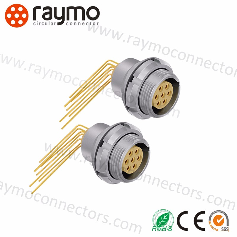 Hight quality compatible LEMOS Connector EEG 0B 2 3 4 5 6 7 9 Pin Elbow PCB Socket female connector