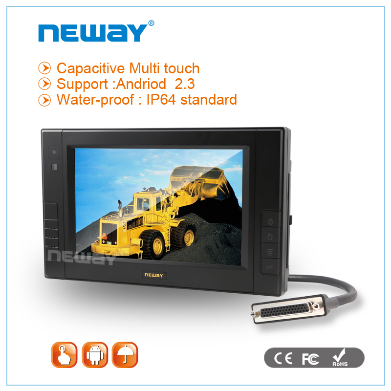 7 inch medical car rugged wifi fanless waterproof tablet