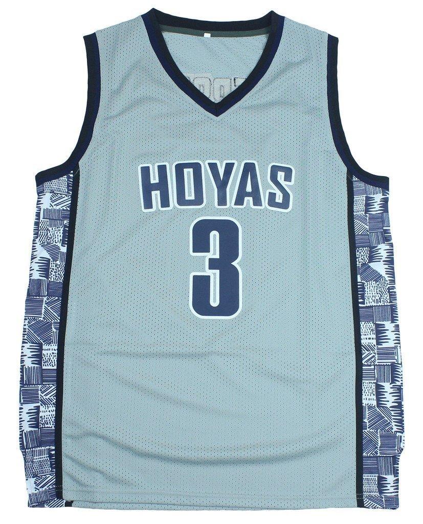 0893eec3de53 ... france get quotations crisgiord mens georgetown hoyas college basketball  no.3 allen iverson throwback jersey