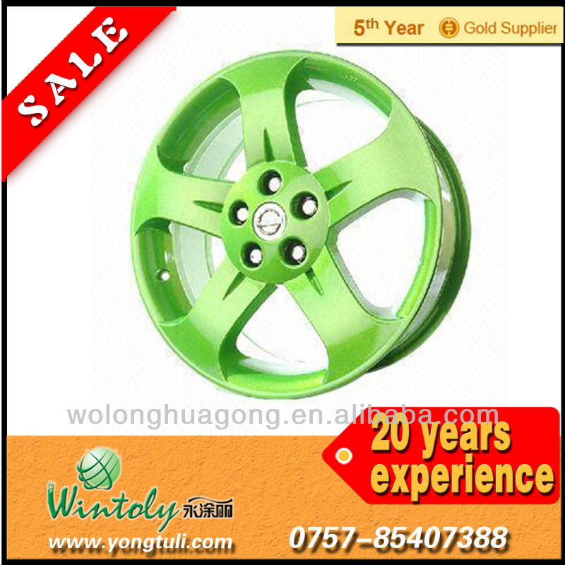 Car wheel powder paint