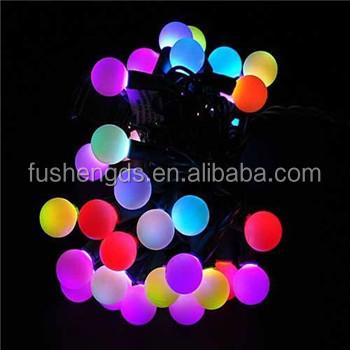 LED Color-Changing 5M Christmas Light String with 50 RGB balls led street  light and - Led Color-changing 5m Christmas Light String With 50 Rgb Balls Led