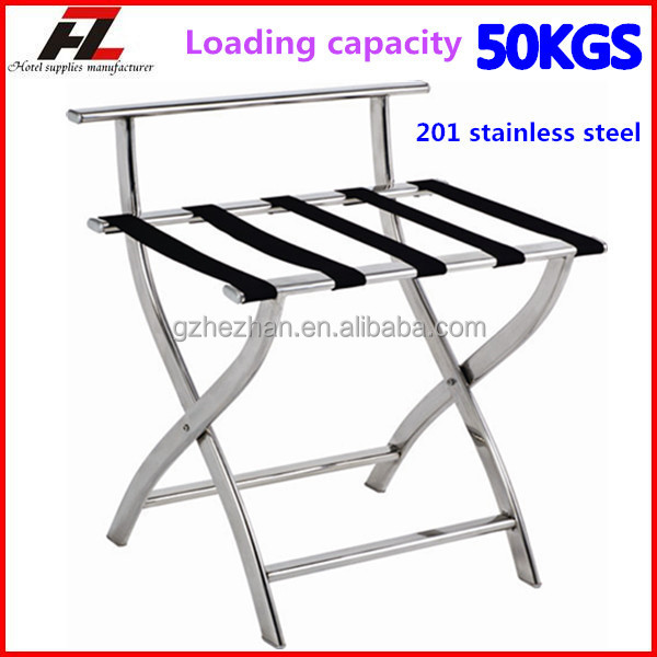 Modern High Back Stainless Steel Luggage Rack For Hotel