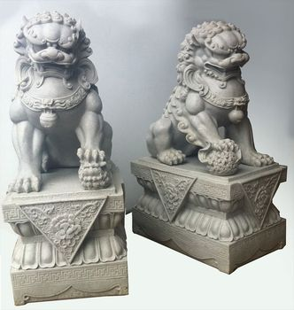 Outdoor Decoration Large Chinese Lion Dog Foo Dog Statue