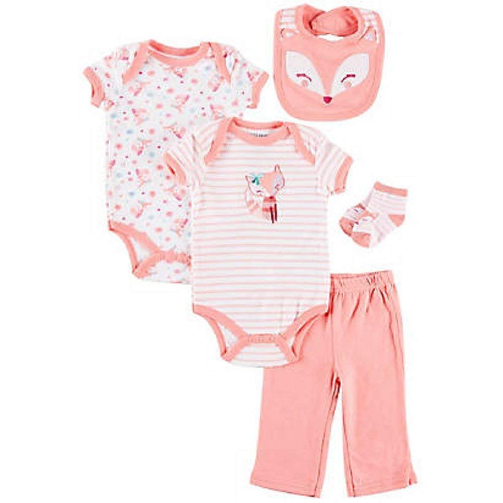 Buster Brown Baby Girls 5-pc. Lil Fox Layette Set, 3-6 Months