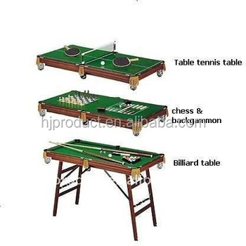 6 In 1 Multi Game Table With Popular Games