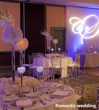 crystal candle holder wedding decorations/pillar candle holder ...