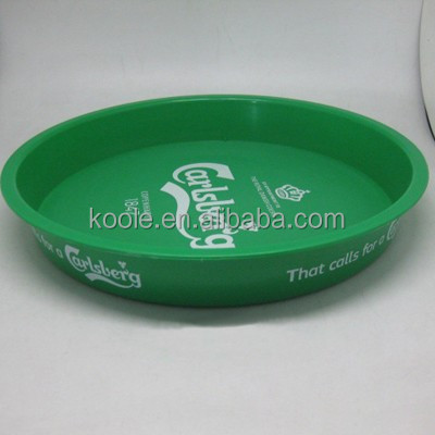 Promotional round shaped beer serving tray