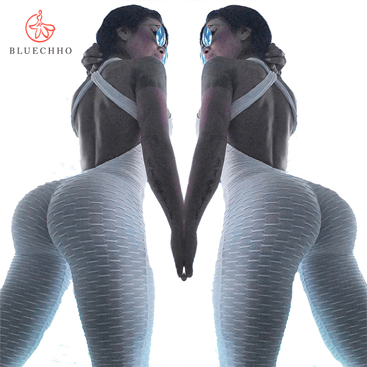 Drop shipping vrouwen yoga scrunch butt leggings push up hoge taille workout compressie fitness yoga leggings Jumpsuit