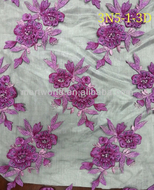 Colorful Flower Hand Embroidery Designs Fabric Embroidered Fabric ...