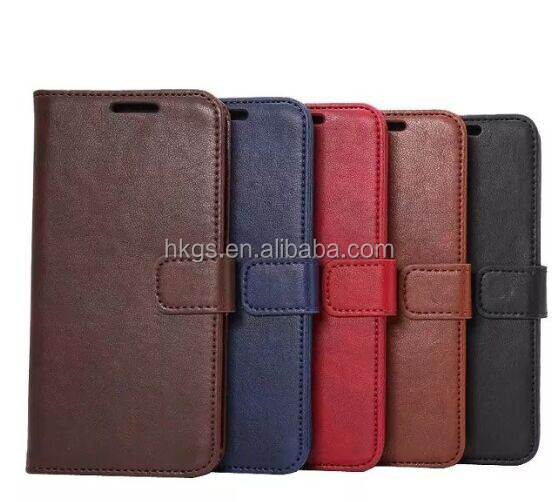 Standing Flip Wallet PU Cover For Huawei P8 Lite 2017 / Honor 8 Lite Leather Case