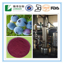 Blueberry extract powder Vaccinium uliginosum L.with Anthocyanidins 5-25% ,Extract Ratio 5:1 and 10:1blueberry fruit Powder