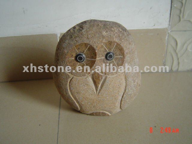 Garden Stone Carvings Mini Owl Stone Sculptures Owl Stone Statues