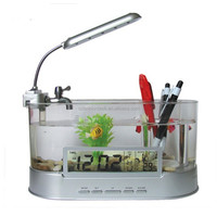 Mini Desktop Usb Aquarium / Mini Fish Tank / Led Desktop Aquarium ...