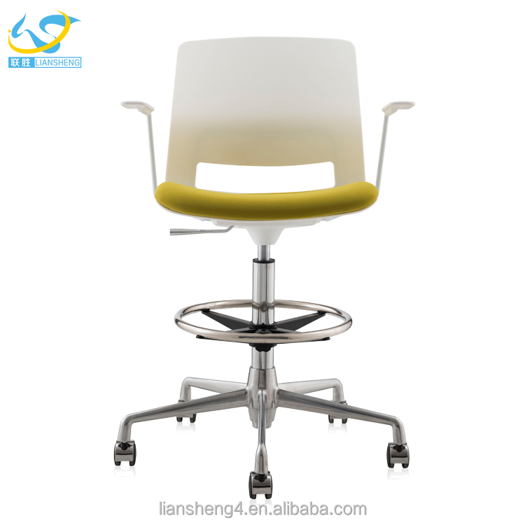Armchair office or visitor chair staff use ergonomic chair wholesale plastic chair price