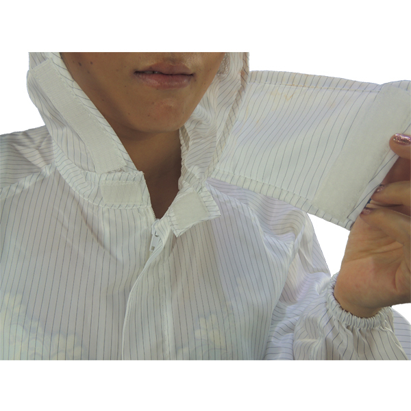 Coverall factory 5mm stripe Cleanroom antistatic ESD coverall