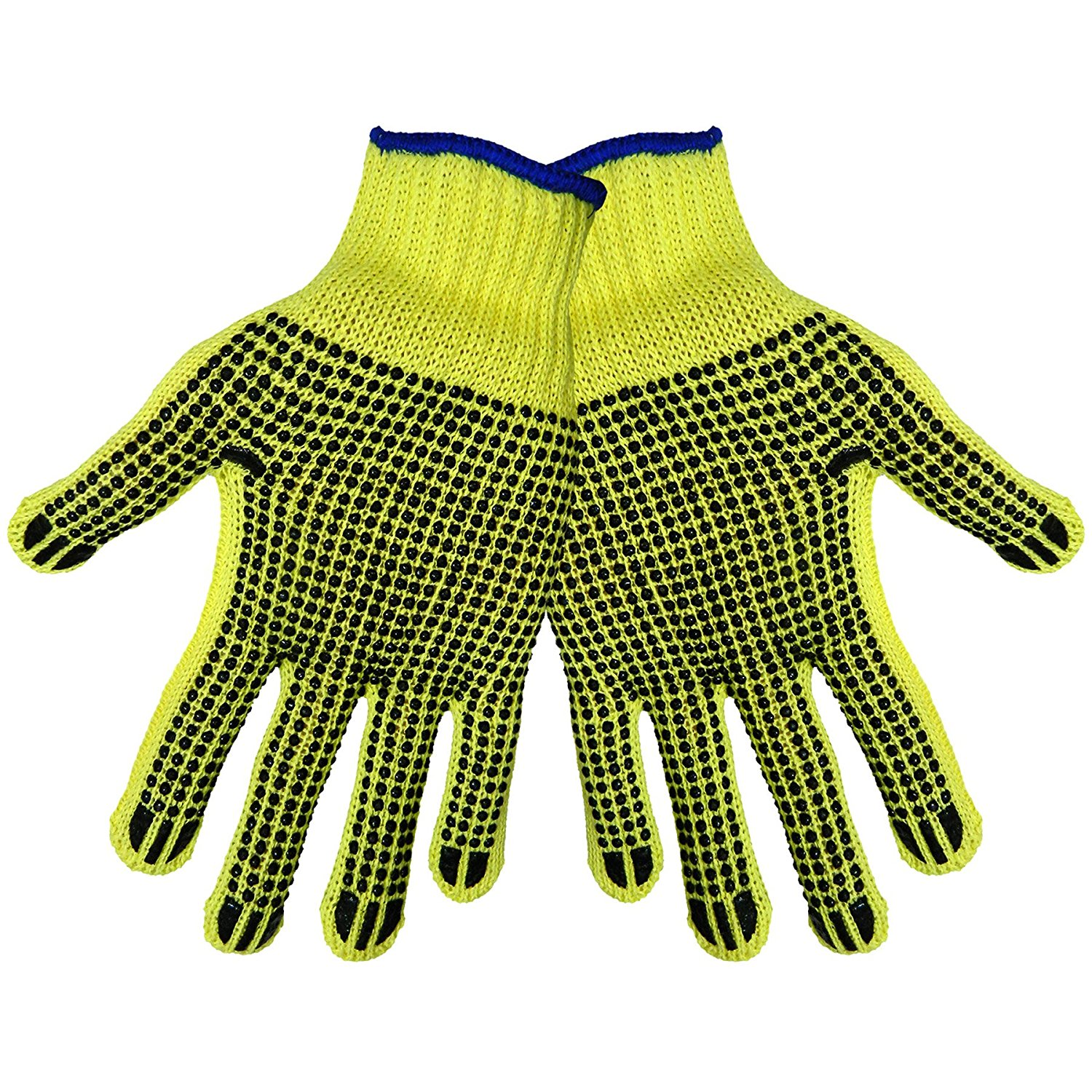 Global Glove K300D2 100 Percent Kevlar Standard Weight String Knits Glove, 2 Sided Dots, Cut Resistant, Ladies (Case of 120)