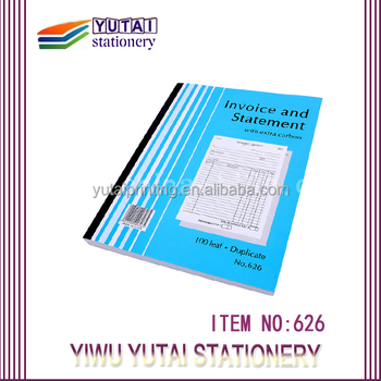 2 copy bill book design printing custom cheap vista print invoice