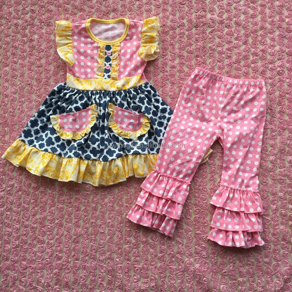 7ba0880c5905 2016 Baby Cotton Sleeveless Frocks Designs Dresses With Two Pocket ...