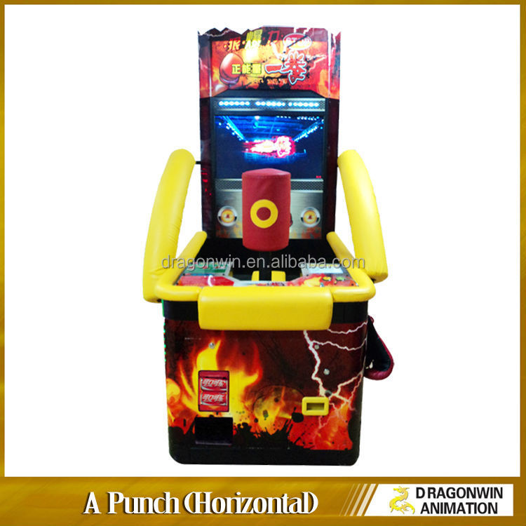 Coin operated amusement boxer slim electronic wheel of shooting boxing blast muscle arcade game punching winning prizes machine