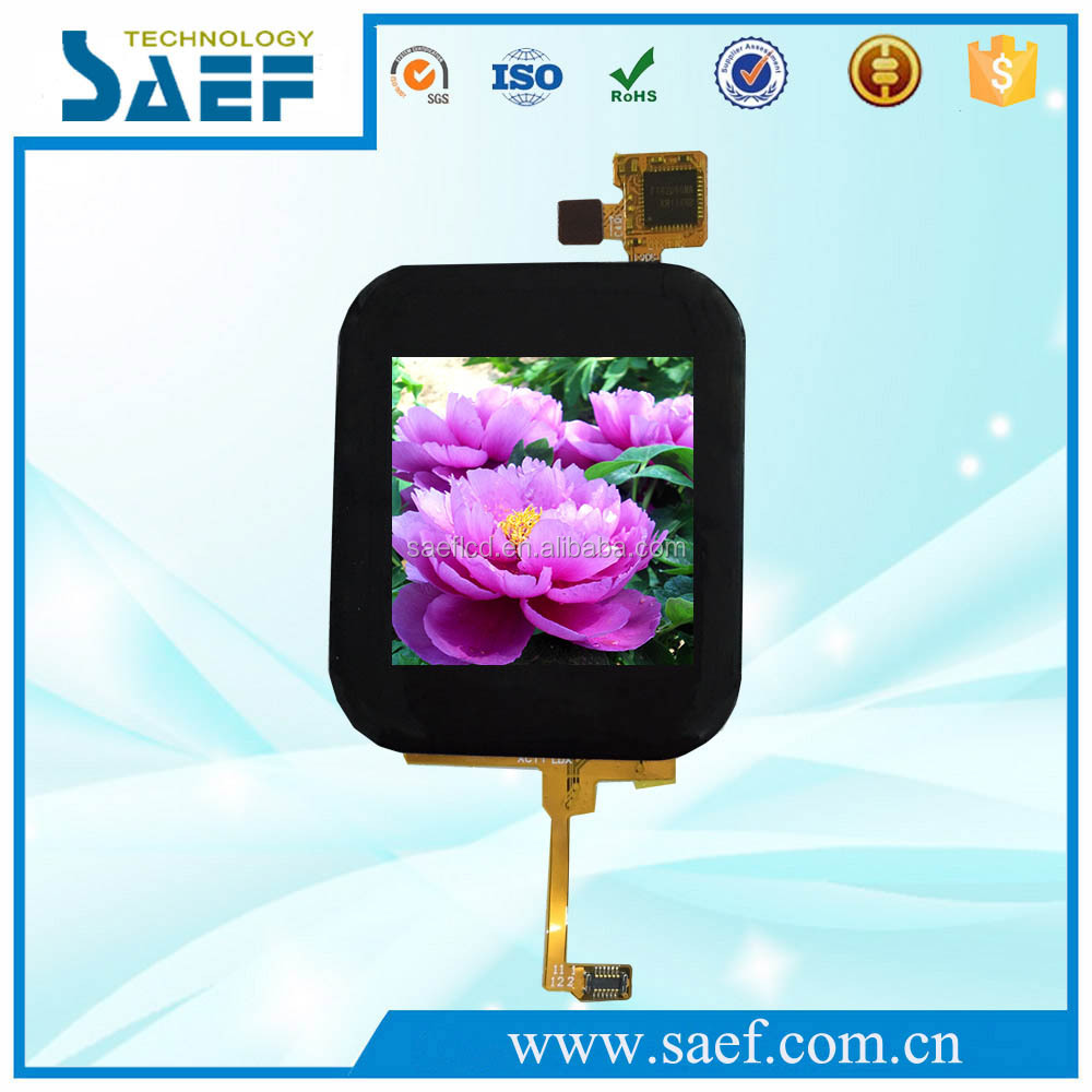1.54inch 320x320 IPS MIPI interface 12 pins capacitive touch panel high brightness TFT LCD panel
