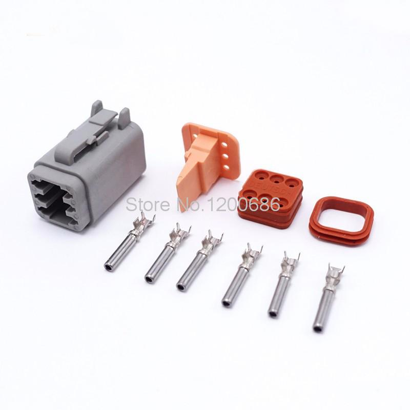 online buy whole electrical wiring in automotive from 10kits lot female 6 pin new deutsch automotive waterproof sealed electrical wire connector plug sets