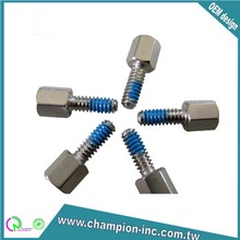 taiwan made precision CNC machining turning stainless steel screws with nylon patch parts