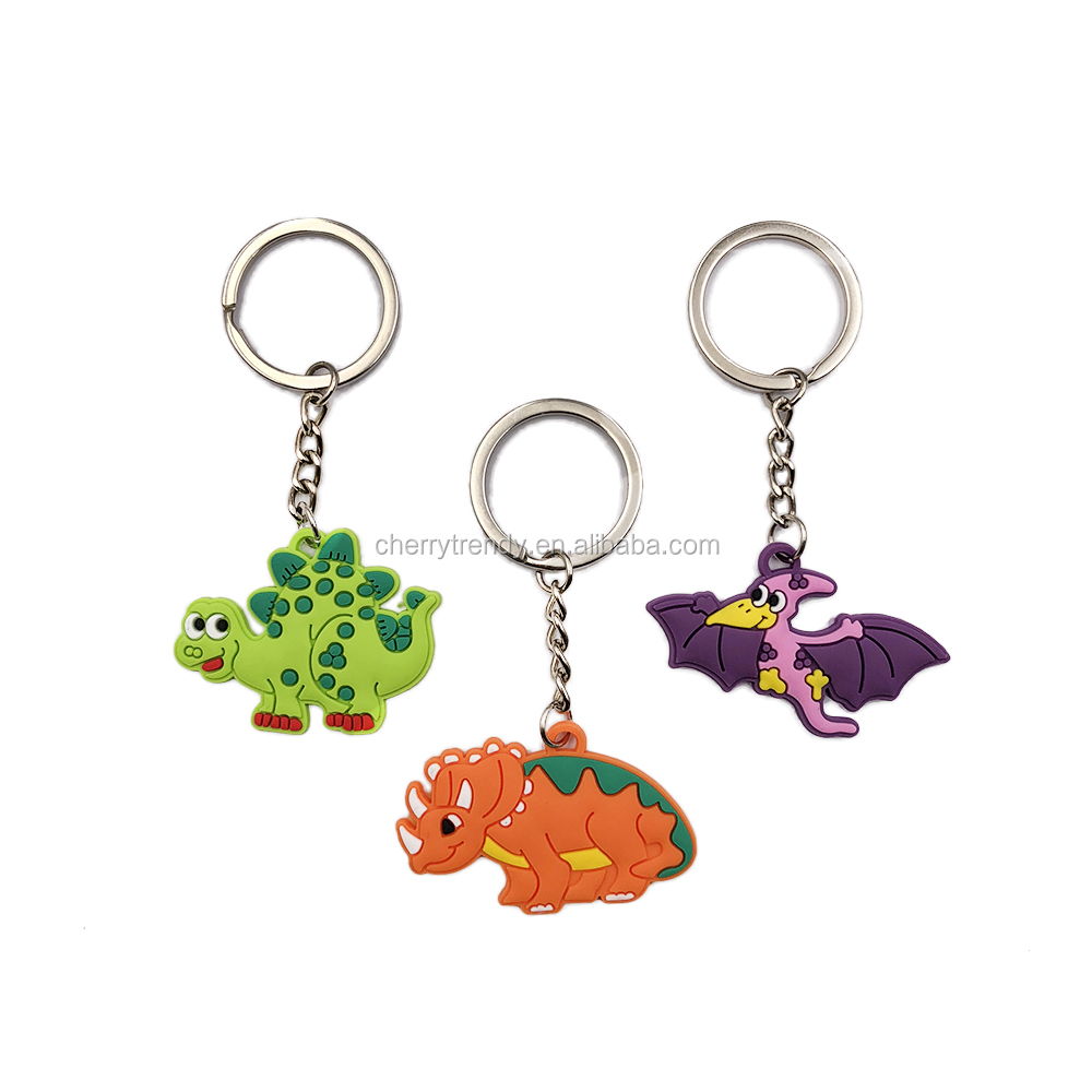 Dinosaur Rubber Keychain For Dinosaur Kids Party