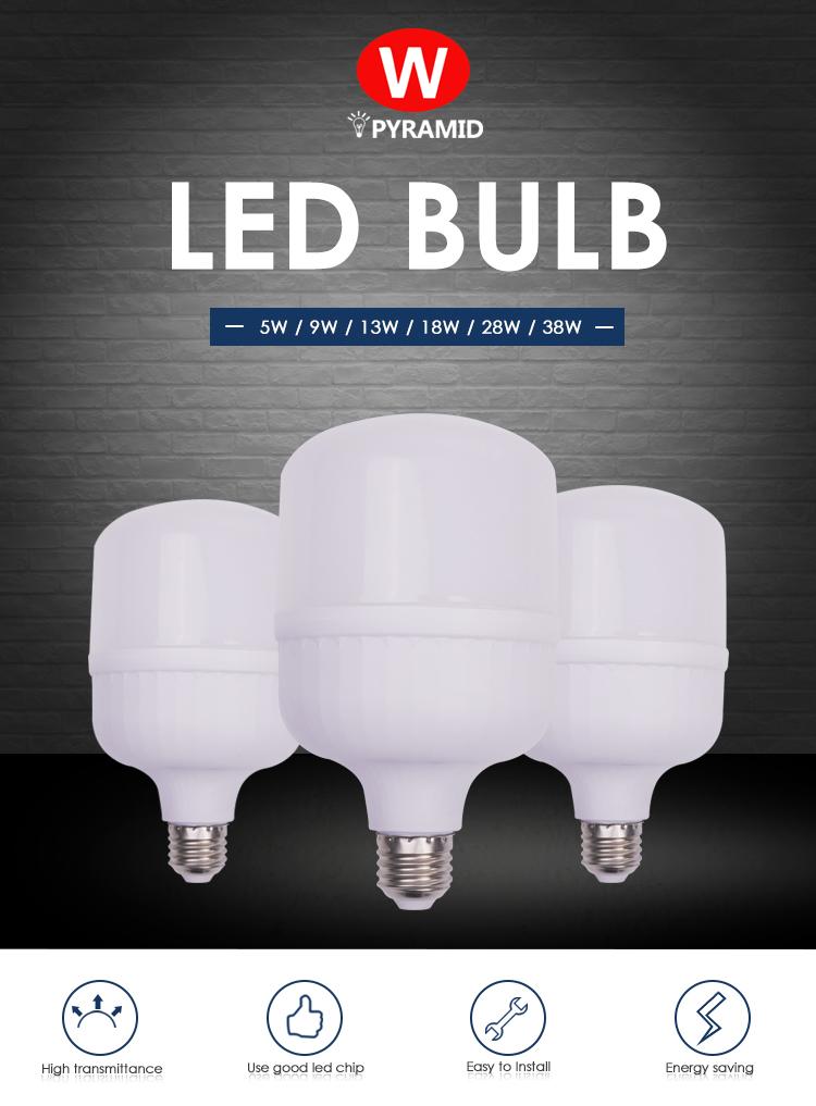 Factory Price 38W led bulb lamp energy saving led bulb light for housing lighting