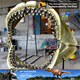 MY DINO-O07 Museum replica life size marine animal skeleton megalodon jaws fossil
