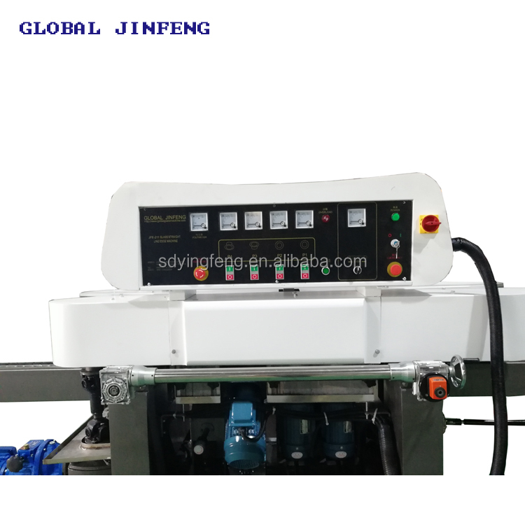 JFE-211 4 motors small size glass straight line edger and polishing machine with CE