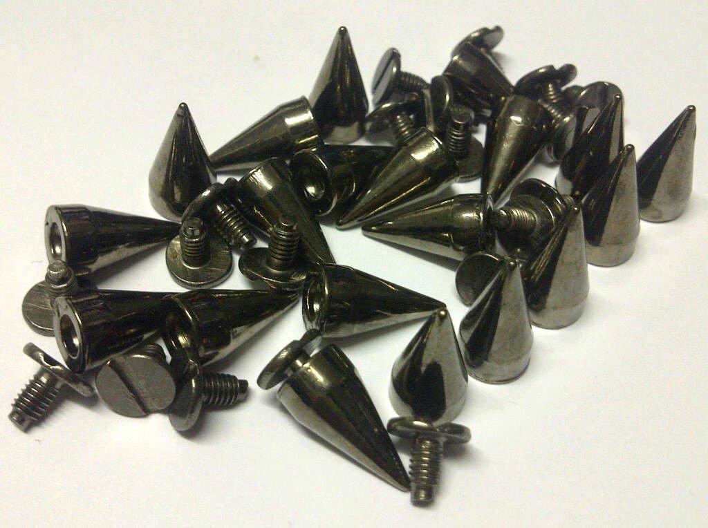 CraftbuddyUS 20 19mm ANT BRASS Screw Spikes Punk Rock Leather Bag Shoe Studs