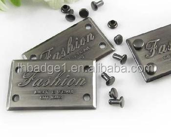 Small Rectangle Metal Tag For Handbag Or Wood Furniture