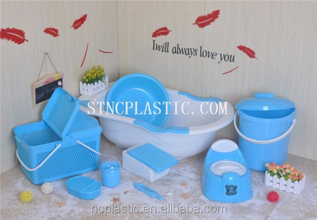 Plastic Bathtub Set With Potty Thermometer And Cotton Bud - Buy ...