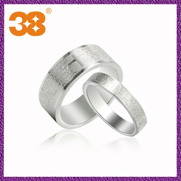 24k expandable tin alloy surgical steel sti jewelry wedding ring