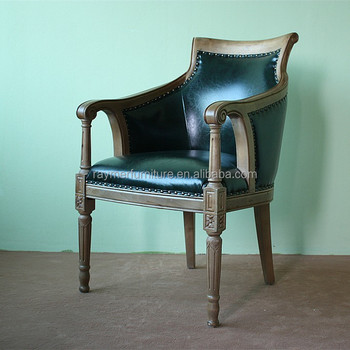faux leather restaurant dining chairs. dark green faux leather wooden carving restaurant chair / dining chairs r