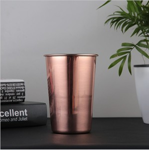 2018 Hot Selling customized 500ml 17OZ Single wall tin beer mug for sale/Stainless steel cups tin mugs