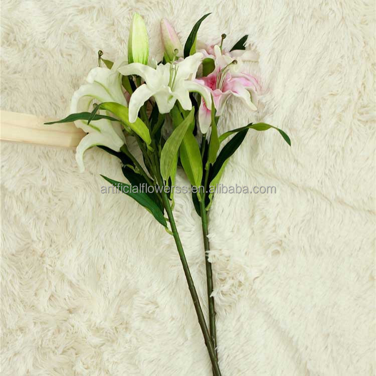 Fake White Artificial Lily Flowers Wholesale Tiger Lily