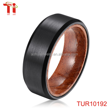 Simple Gold Ring Designs Black Tungsten Ring Wooden Valentine Day