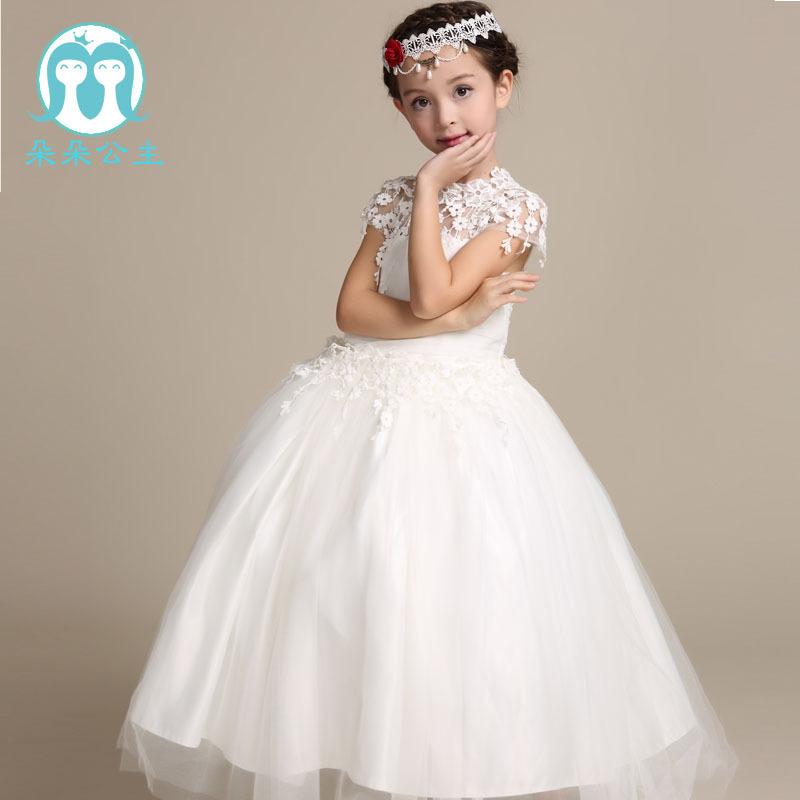 a3372a91f92d Newest Girls White Princess Dress Fancy Beautiful Little Girls Wedding  Flower Dress Party Dresses Hot Sale