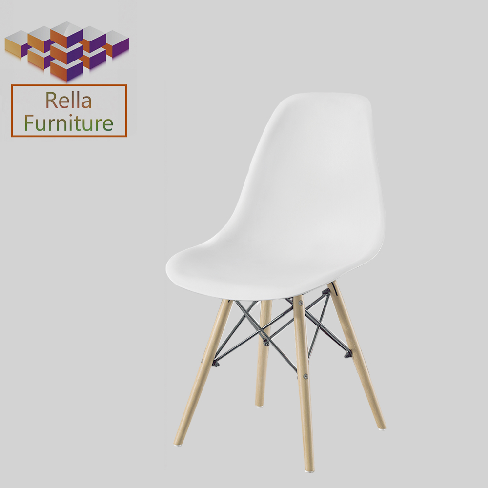 Wholesale cheap modern new design chair Plastic&wooden leg Emes plastic dining chair