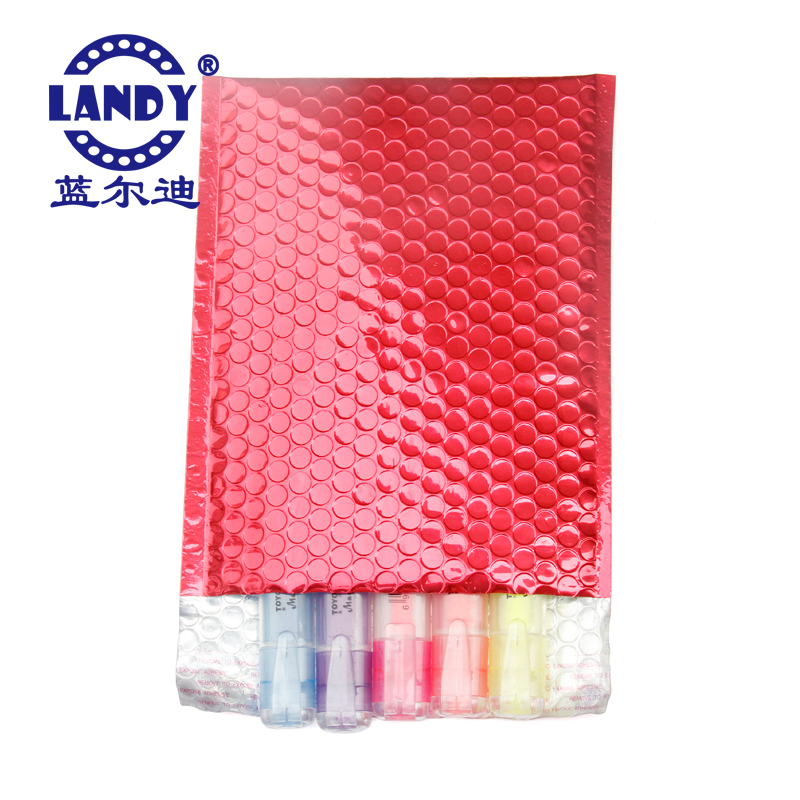 Custom A4 red metallic bubble mailer waterproof padded envelope
