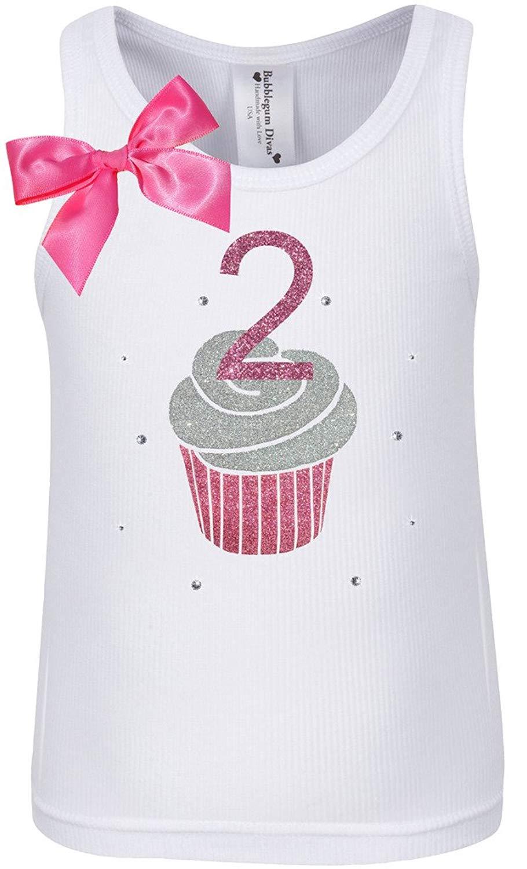 Get Quotations Bubblegum Divas Little Girls 2nd Birthday Pink Cupcake Shirt