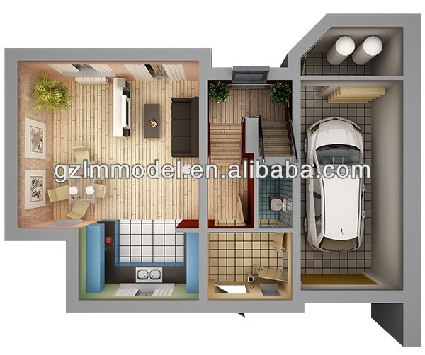 Model of house planning