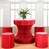 Red fashion creative pop up honeycomb folding table easy to carry