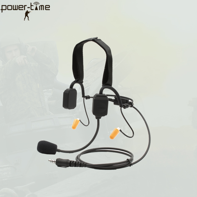 Transmitter-Receiver Handset with two bone conduction speakers PTE-580