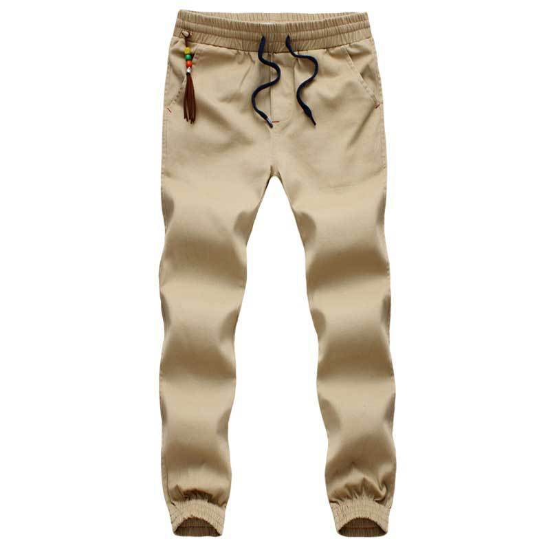 Khaki Joggers New Fashion: Casual Multicolor Slim Fit M-5XL Men Jogger Pants Sport Trousers Running Jogging Pants Men Chinos
